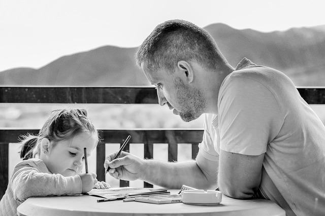 kreslení s tátou