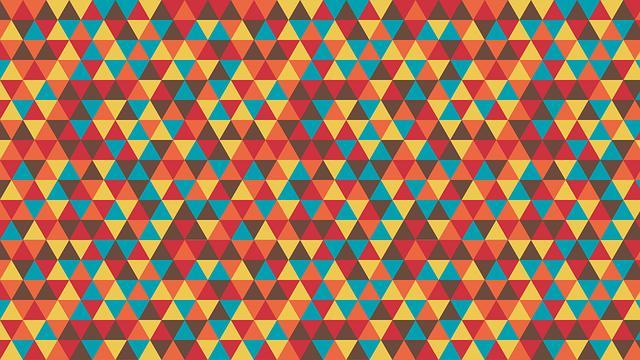 pozadí – barevné trojúhelníky