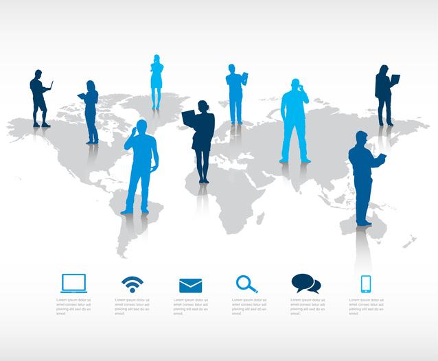 odborníci propojení po celém internetu